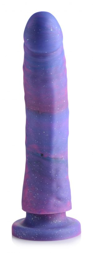This magical dong is ready to charm your holes and push you over the edge! Decorated with a cloud of pink and purple and a dazzling drizzle of sparkles to add some magic to your personal pleasure. Meaty and luxurious