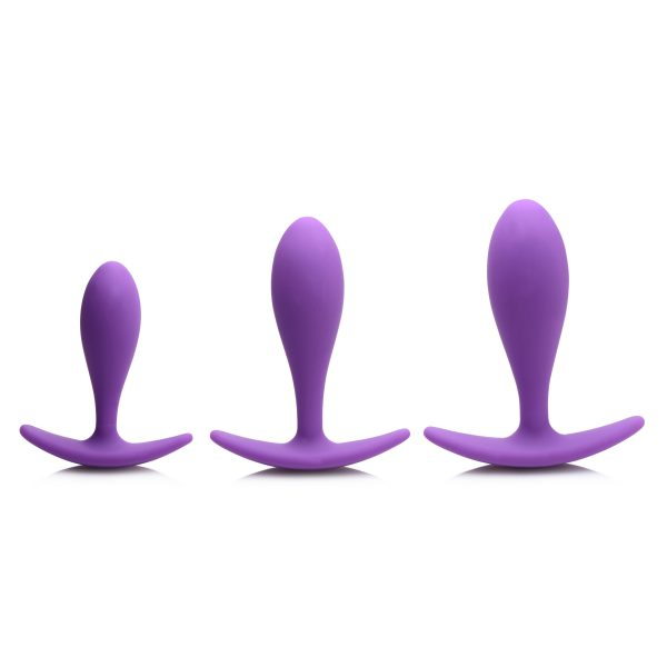 This trio of graduated silky anal delights is perfect for training and play! The ergonomic design is easy on new butts