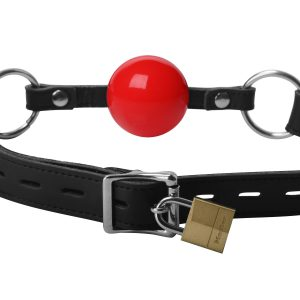This standard ball gag is a quality piece with a classic design. The gag is made of odorless