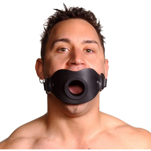 Spread their lips and keep their mouth open and awaiting your pleasure. This locking gag features a 1.5 inch diameter opening at the front