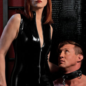 Sometimes one ring on a collar is not enough to keep my slave feeling compromised and subjugated