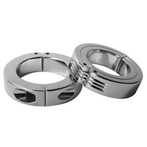 Keep it going longer and stronger with these new Locking Hinged Cock Rings. Made from chrome plated brass