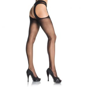 Pantyhose have openings in the side and back which give them a more modern sexy look. Made of 100 percent nylon. One Size Fits Most
