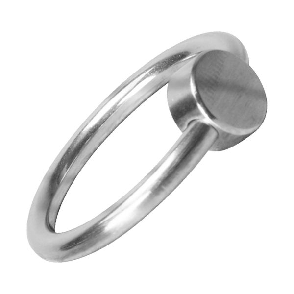 This glans ring is made with a comfortable cylindrical pressure point. It is designed to optimize your pleasure and give you more intense orgasms. Specifications: The glans ring is made of 3.2 surgical stainless steel. It measures 0.95 inch in width. The pressure point measures less than.25 inch in width.