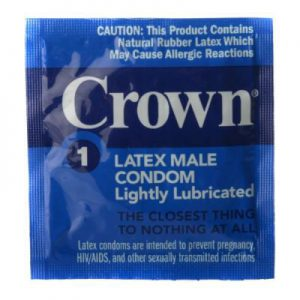 Make sure that you have some Crown Rubber condoms on hand when the time is right and the mood is ready. Each of these condoms are completely tested and are lightly lubricated. They are made to feel like you are wearing nothing at all