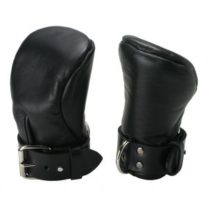 Keep their busy little hands out of the way with these Strict Leather Deluxe Padded Fist Mitts. Made from soft garment leather
