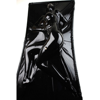 The Extreme Black Latex Vacuum Bed is capable of totally immobilizing its occupant between two sheets of 0.4mm latex rubber When you hook your vacuum up to the beds reinforced vacuum attachment port