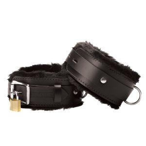 Our Strict Leather fur lined cuffs are the ultimate blend of comfort and durability. A 2 inch wide Leather strap is lined with two layers of an ultra soft fur. The 1 inch wide lockable top strap provides extra strength and durability. Six sizing slots ensure a tight fit. Cuffs sold as a pair