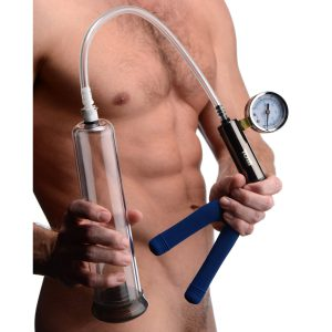 Get rock hard with a heavy-duty pumping system. Achieve an erection as impressive as the iconic drawings of Tom of Finland when you slip your penis into the silicone comfort sleeve of the cylinder