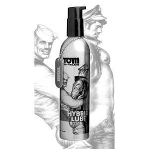 This hybrid lube combines the easy clean up and compatibility of water based lube with the lasting smoothness of silicone. The attractive metal bottle can take a beating