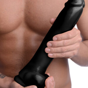 Get ready for The Master to fill you to your limits! This huge dildo features a realistic cock head and balls