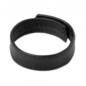 The Strict Leather Velcro Leather Cock Ring looks good