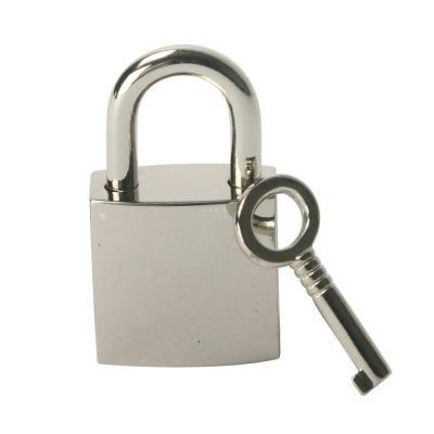 Add some style to all your bondage gear with this stylish Chrome Lock. This will add a sleek look to any accessory from collars and cuffs to chastity devices Each lock comes with 2 keys