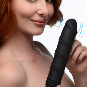This extra large vibrating bullet features an extended body - slim and silky smooth with a powerful motor for exciting internal or external pleasure! Featuring a Swirling textured sleeve with dynamic ridges for extra pleasure as you thrust in and out. The defined phallic head gives this XL Bullet a realistic fill!     The outer silicone sleeve can be removed for a smooth and sultry bullet if you prefer something more discrete. Choose from 3 vibration intensities and enjoy this Bullet with or without its sleeve with ease!     Recharge this slender bullet when the power runs low with the included USB charging cable. Designed with IPX7 waterproofing for ease of cleaning and shower friendly fun! Compabitle with water based lubricants only.      Bullet With Sleeve Measurements : Overall length 9.5 inches